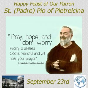 Feast of St. Pio - September 23, 2017