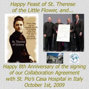 October 1, 2017 - Feast of St. Therese