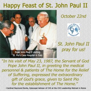 October 22, 2017 - Feast of St. John Paul II
