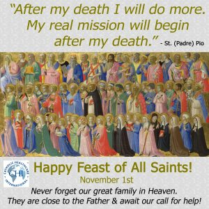 November 1, 2017 - Feast of All Saints