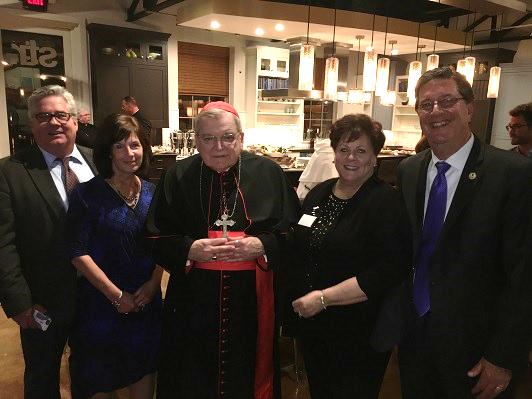 Pat & Jere Palazzolo with Cardinal Burke and Joe & Julie Chovan