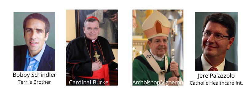 Bobby Schindler, Cardinal Bishop, Archbishop Vigneron, Jere Palazzolo