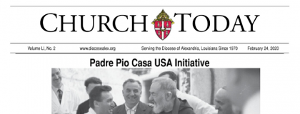 Diocesan Paper of Alexandria, Louisiana Features the March 19 CHI Event