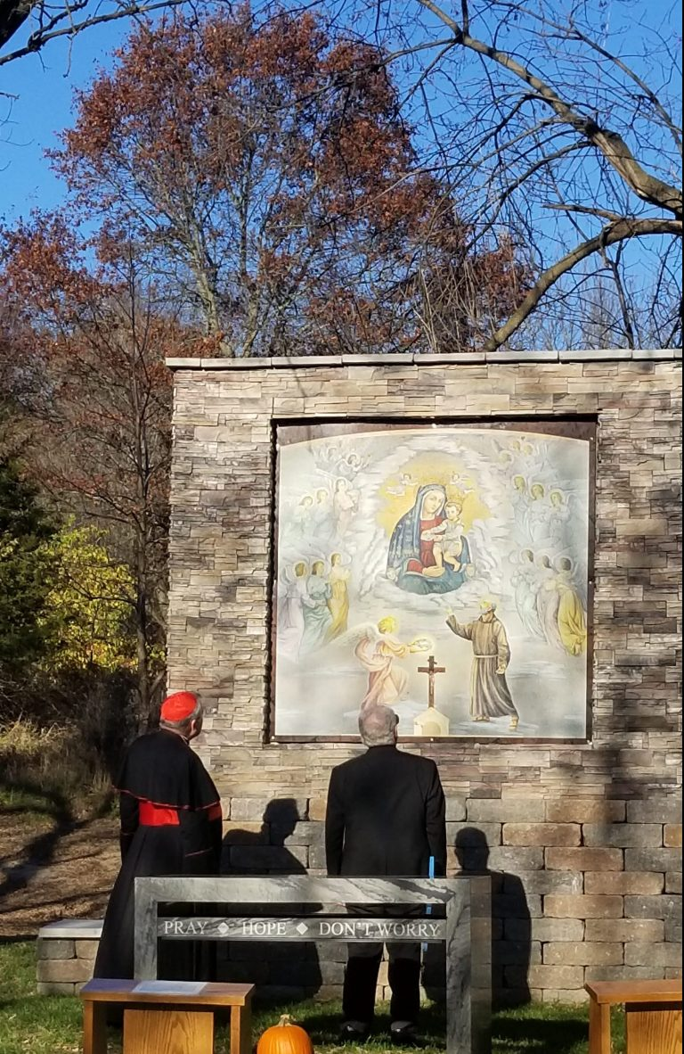 Cardinal Burke Dedicated the Grotto on Nov 4, 2020