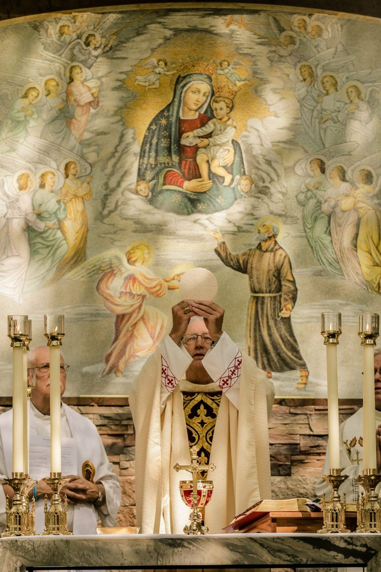 September 23, 2020, Bishop Boyea celebrated the third Mass on the Howell, MI campus. with 9 other priests.