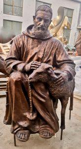 St Padre Pio Statue at Studio in Ecuador