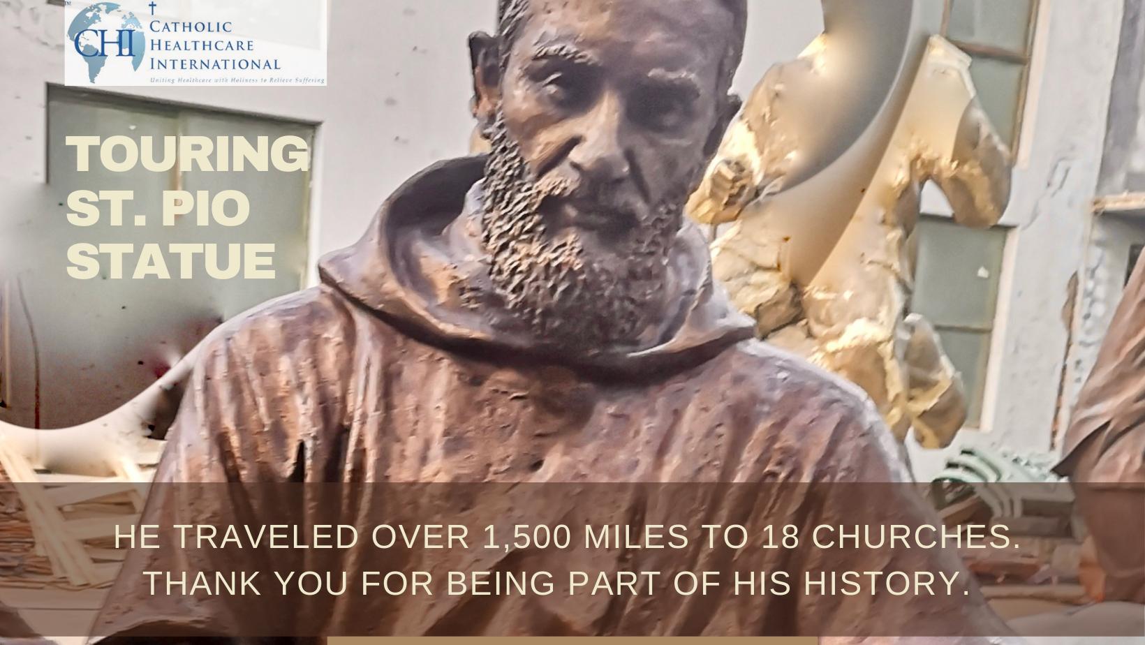 St Pio Statue 1500 miles 18